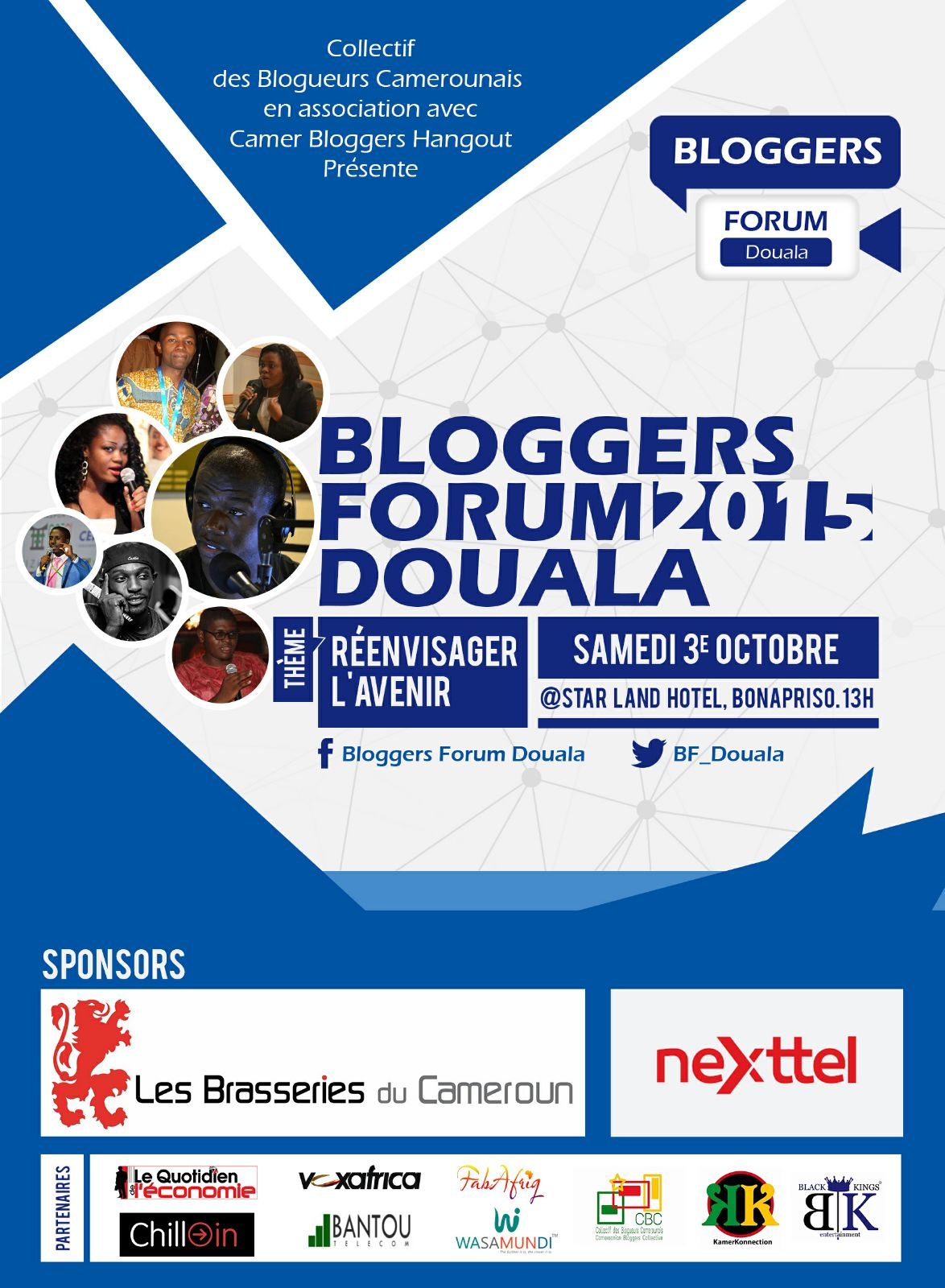 Les Marches d'Elodie - Bloggers Forum - Forum des Blogeurs Douala - Flyer French