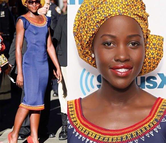 Lupita Nyong'o habillée par la créatrice camerounaise KibonenNY