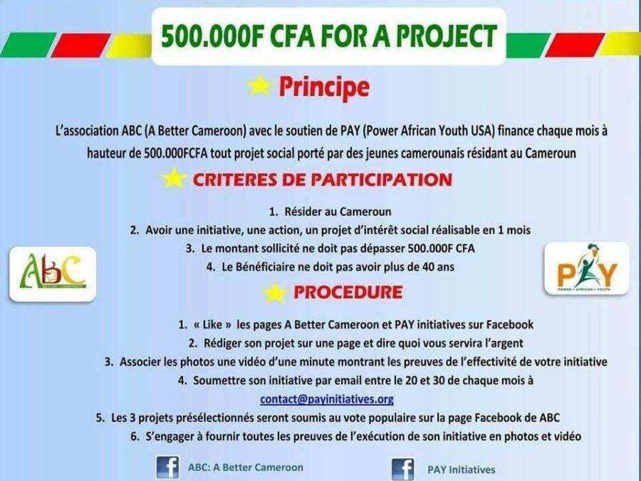 «500 000 Fcfa pour un projet» destiné aux initiatives sociales au Cameroun