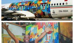 L'artiste camerounais Mboko Lagriffe: De l'art griffé dans les airs