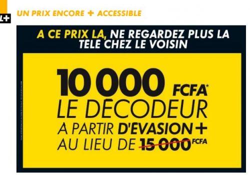 Baisse des prix chez Canal+: Achetez votre décodeur à 10 000 Fcfa